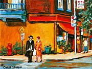 Cantors Bakery Montreal Memories Vintage City Scenes Print by Carole Spandau