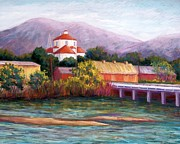 River Pastels - Canutillo and the River by Candy Mayer