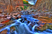 Colorado Stream Posters - Canyon Bridge Poster by Scott Mahon