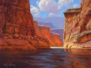 Canyon Paintings - Canyon Colors 12 x 16 by Cody DeLong