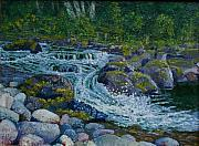 Waterscape Painting Prints - Canyon Creek Cadence Print by Ron Smothers