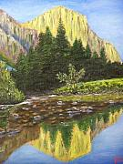 Waterscape Painting Prints - Canyon Creek Print by Charles Vaughn