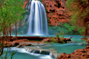 Postcard Art - Canyon Falls by Scott Mahon