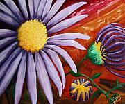 Aster  Painting Framed Prints - Canyon Flower Framed Print by Dixie Hester