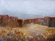 Golds Prints - Canyon Lands Print by Daphne Potter