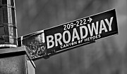 Street Sign Prints - Canyon Of Heroes Print by Susan Candelario