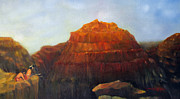 Southwest Indians Paintings - Canyon Overlook II by Loretta Luglio