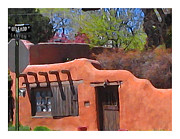 Santa Fe Digital Art - Canyon Road Gallery by Charlie Spear