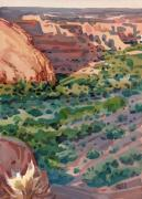 Canyon Painting Originals - Canyon Shadows by Donald Maier