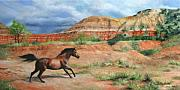 Storm Clouds Painting Originals - Canyon Storm by Anna Bain