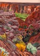 Canyon Painting Originals - Canyon Trail to Whitehouse by Donald Maier