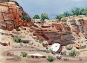 Canyon Painting Originals - Canyon Wall by Donald Maier