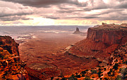 Canyonland Framed Prints - Canyonland Rain Framed Print by Robert Bales