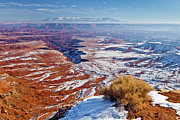 Slickrock Framed Prints - Canyonlands Winter Framed Print by D Robert Franz