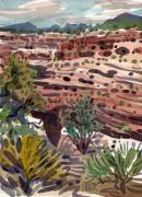 Canyon Paintings - Canyons Edge by Donald Maier