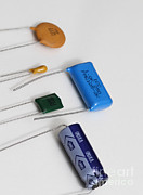 Electrolytic Photos - Capacitors by Photo Researchers, Inc.