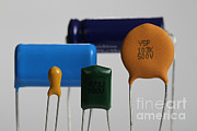 Electronic Component Prints - Capacitors Print by Photo Researchers