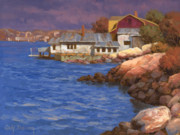 Atlantic Ocean Painting Posters - Cape Ann Coasline Poster by Cody DeLong