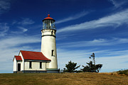 Port Orford Framed Prints - Cape Blanco Lighthouse Framed Print by James Eddy
