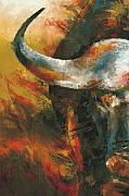Christiaan Bekker Prints - Cape Buffalo Print by Christiaan Bekker