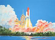 Space Ships Paintings - Cape Canaveral by Dennis Vebert