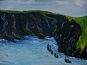 Cliffs Prints - Cape Clare Windward Side. Print by Conor Murphy