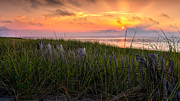 Race Point Photos - Cape Cod Bay Sunset by Bill  Wakeley