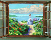 Pathways Painting Framed Prints - Cape Cod Beauty Framed Print by David Lloyd Glover