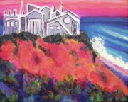 Red Sox Art Paintings - Cape Cod Castle by Suzanne  Marie Leclair