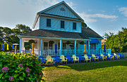 Blue Chairs Prints - Cape Cod Creamery Print by Linda Pulvermacher