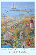 Chatham Painting Posters - Cape Cod Poster by Ezartesa Art