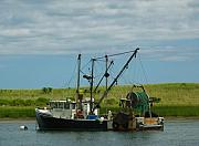 Lobster Fishermen Framed Prints - Cape Cod Fishing Boat Framed Print by Juergen Roth