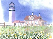 Cape Cod Lighthouse Paintings - Cape Cod Light Summer by Joseph Gallant