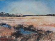 Cape Cod Pastels Originals - Cape Cod Marsh by Geoffrey Workman