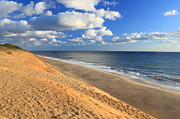 Cape Cod Metal Prints - Cape Cod Ocean Beach White Crest Beach Metal Print by John Burk