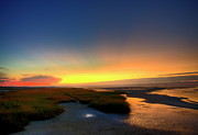 Beach Sunsets Posters - Cape Cod Sunset Poster by John Greim