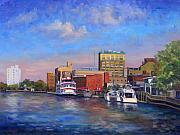 North Carolina Paintings - Cape Fear Afternoon by Jeff Pittman