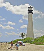 Cape Florida Lighthouse Posters - Cape Florida Lighthouse Poster by Allan Einhorn