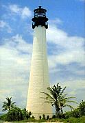 Lighthouse Photographs By Frederic Kohli - Cape Florida Lighthouse by Frederic Kohli