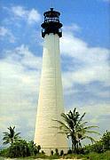 Cape Florida Lighthouse Print by Frederic Kohli