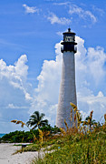 Cape Florida Lighthouse Metal Prints - Cape Florida Lighthouse Metal Print by Julio n Brenda JnB