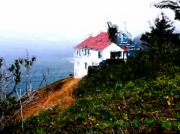 Red Roof Framed Prints - Cape Foulweather Framed Print by Methune Hively