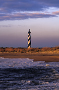 Hatteras Photos - Cape Hatteras Lighthouse at Sunrise - FS000606 by Daniel Dempster
