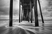 Rodanthe Prints - Cape Hatteras Outer Banks NC - Rodanthe Fishing Pier Print by Dave Allen
