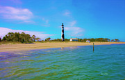 Beachscapes Posters - Cape Lookout 1 Poster by Betsy A Cutler East Coast Barrier Islands