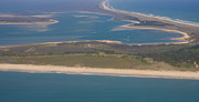 Aerial Art - Cape Lookout Lighthouse Distance by Betsy A Cutler East Coast Barrier Islands