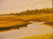 Cape Cod Paintings - Cape Marsh by Paul Galante