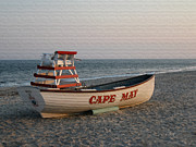Beachfront Posters - Cape May Calm Poster by Gordon Beck