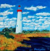 David Jones Paintings - Cape May Light by David Jones