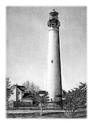 Historic Ship Drawings Prints - Cape May Lighthouse Print by Greg DiNapoli